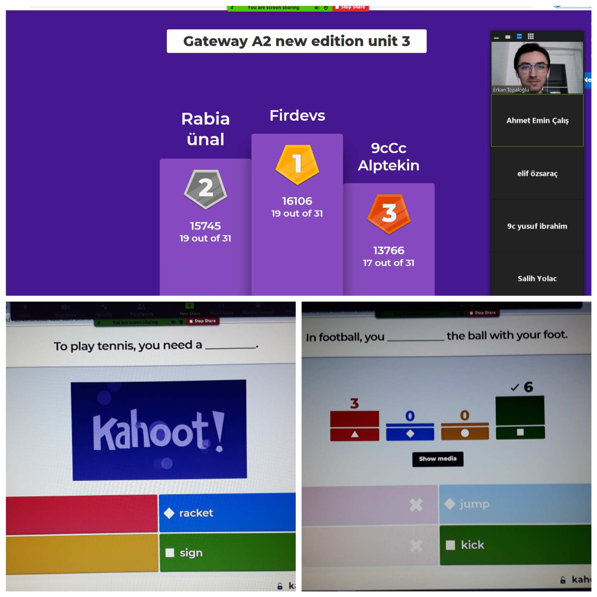 KAHOOT ACTIVITY WITH THE 9TH GRADERS