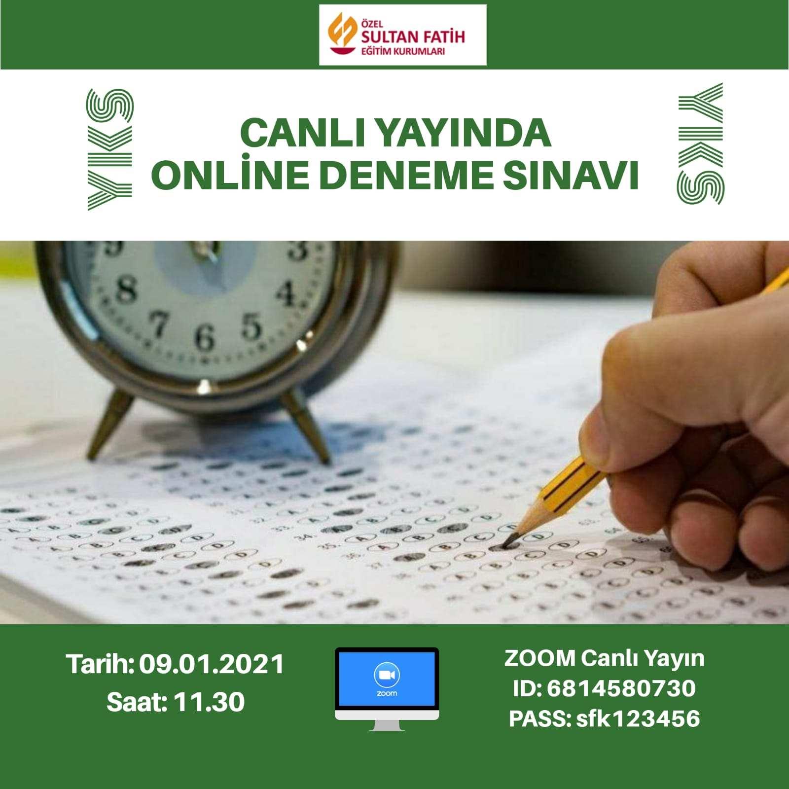 CANLI YAYINDA ONLİNE DENEME SINAVI