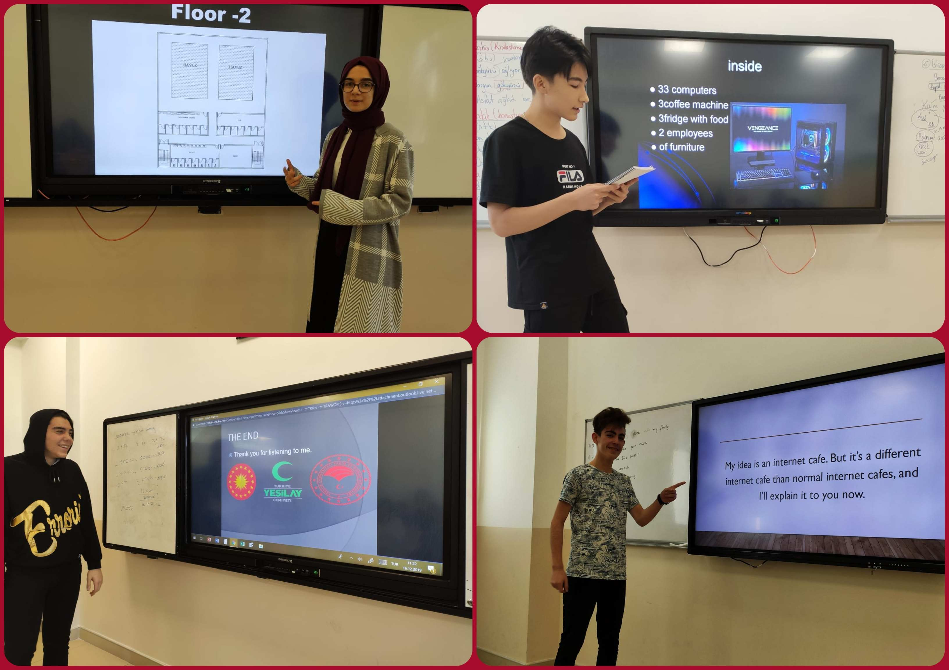Entrepreneur projects of our highschool students ... We aimed to broaden their minds with their different ideas...