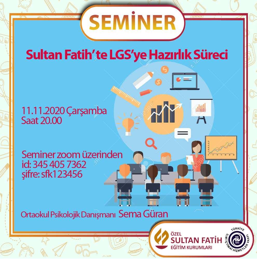 LGS'YE HAZIRLIK SEMİNERİ