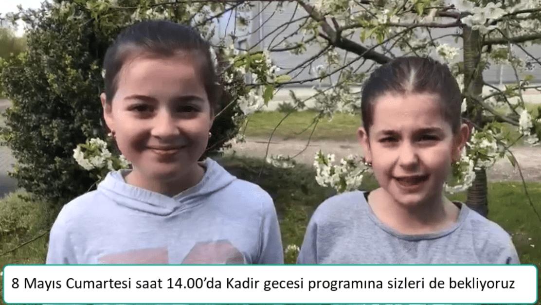 KADİR GECESİ PROGRAMA DAVET