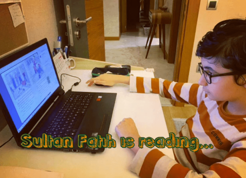 SULTAN FATİH IS READING