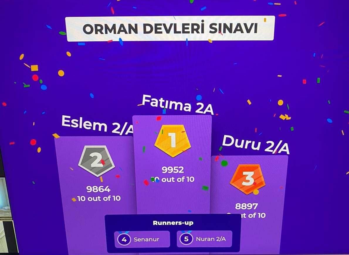 """""""ORMAN DEVLERİ"""" KİTAP SINAVI"""
