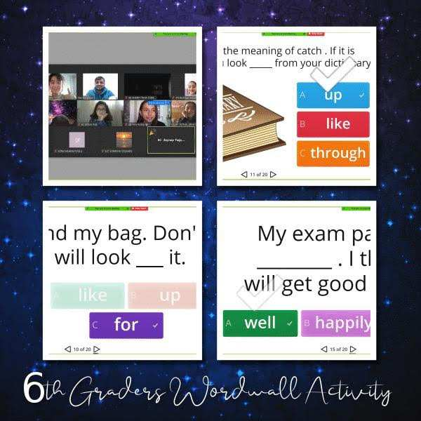 6TH GRADERS WORDWALL ACTIVITY