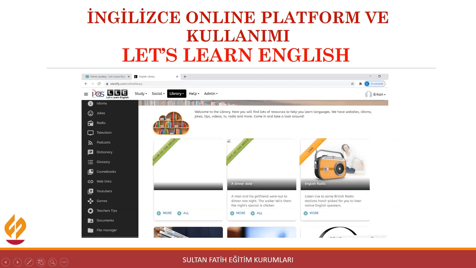 ONLINE PARENTS – TEACHERS' WEBINAR OF ENGLISH DEPARTMENT -   9th GRADES