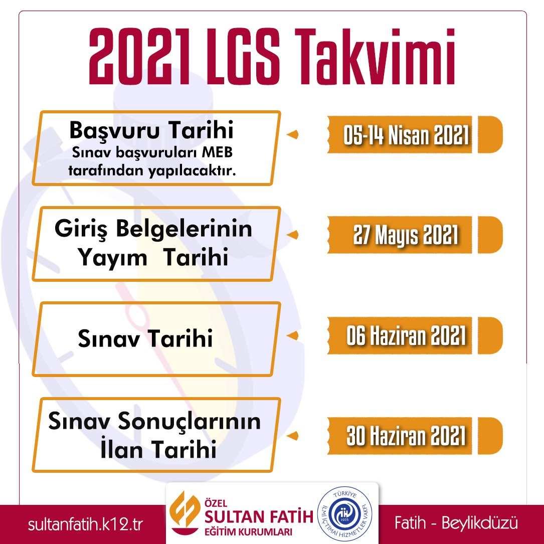2021 LGS TAKVİMİ