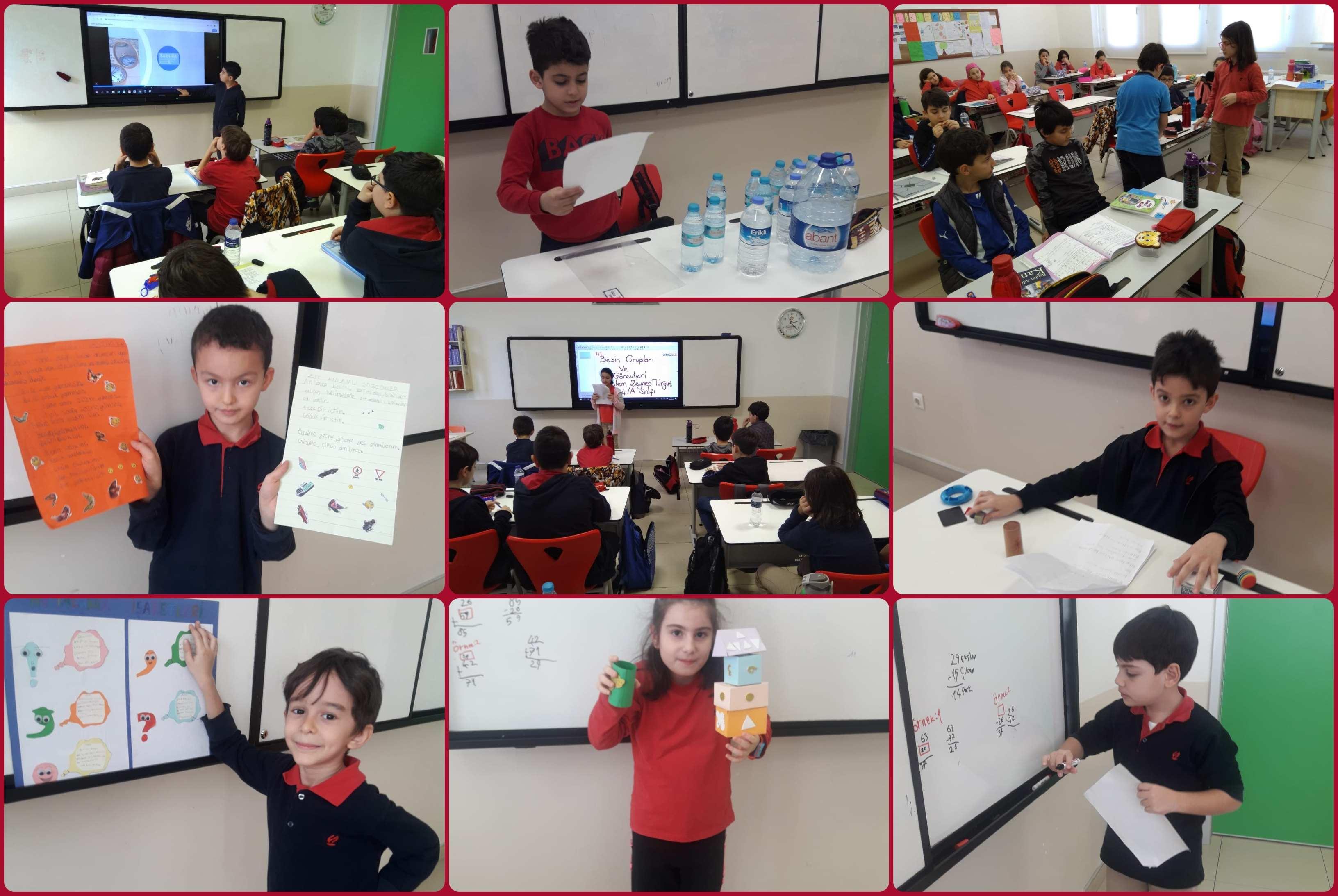 Öğrencilerimiz arkadaşlarına sunum yaparak ifade ve anlatma  becerilerini geliştirirken, bir konunun içeriğini araştırıp sunum hazırlama becerisi edindiler.