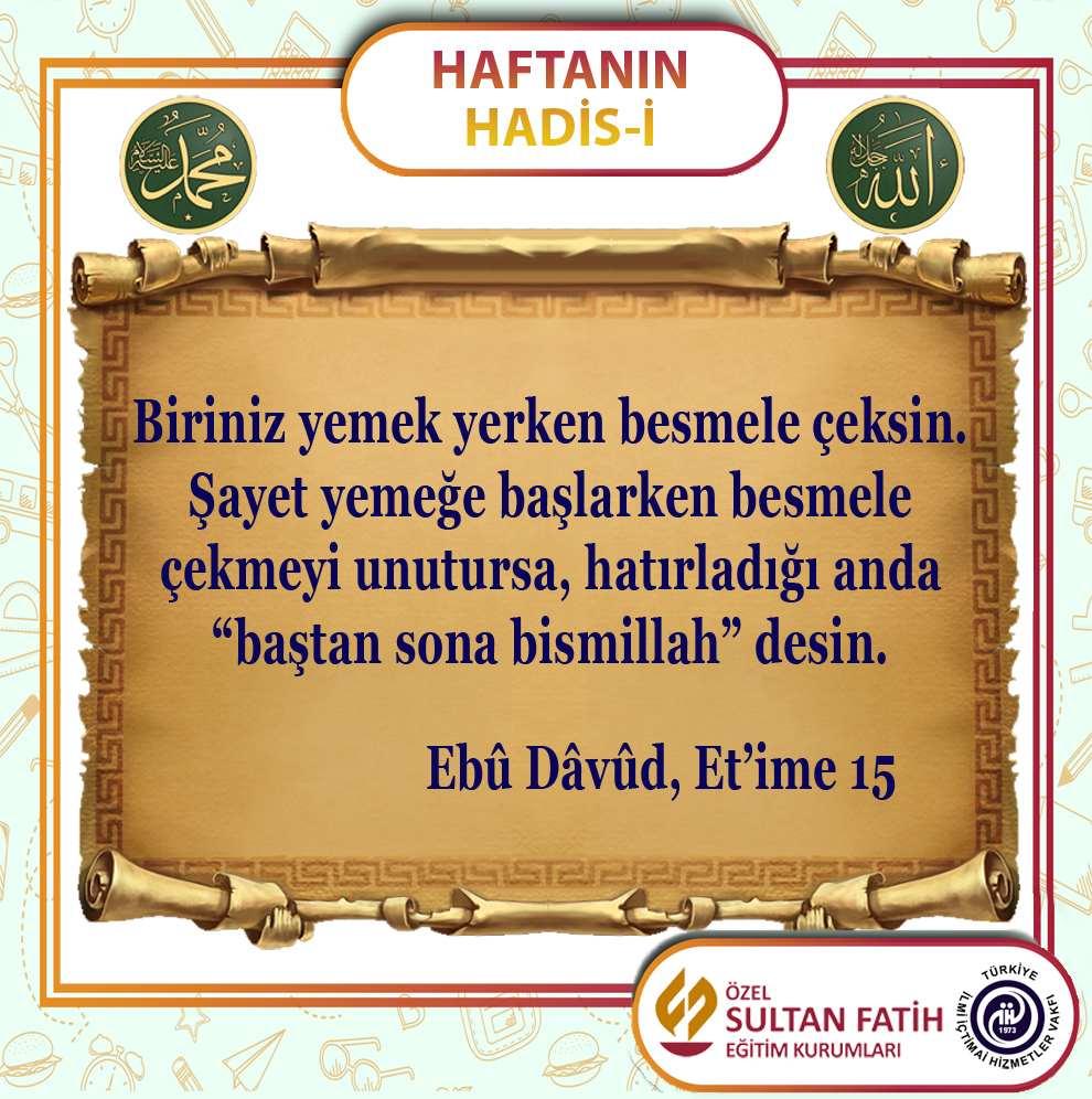 HAFTANIN HADİS-İ