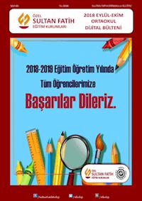 2018 EYLÜL - EKİM AYI BÜLTENİ